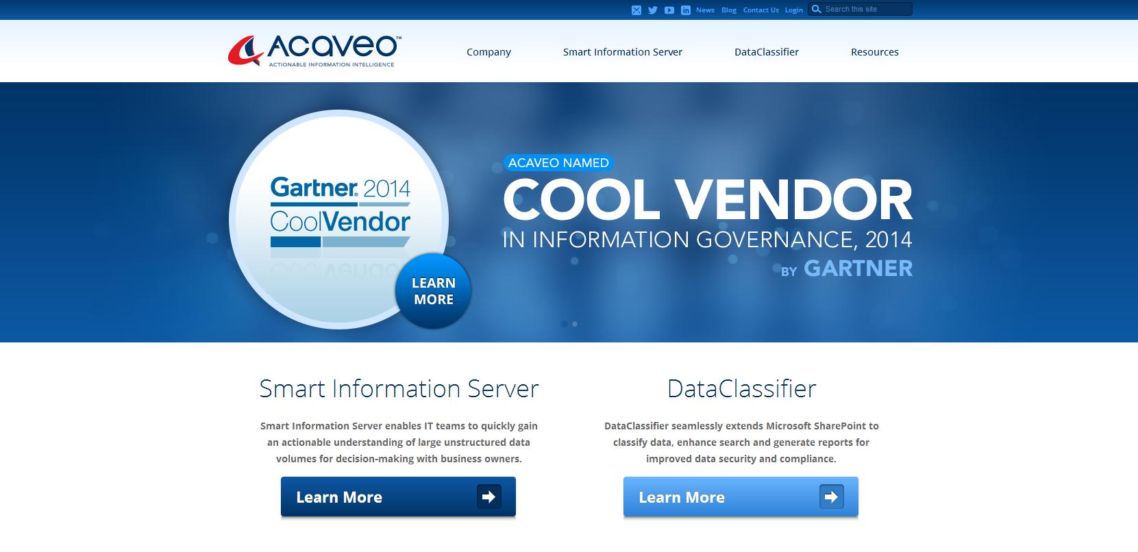 Acaveo Website by Mediaforce
