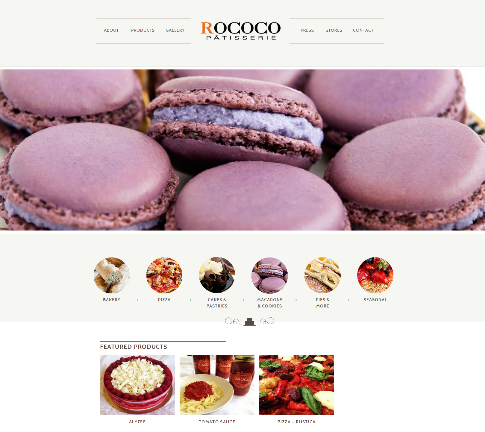 Rococo Website by Mediaforce
