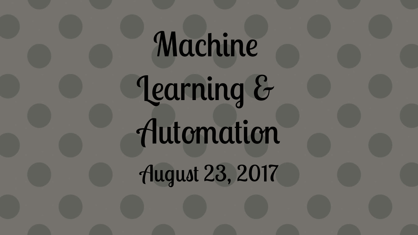 automation machine learning