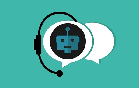 An illustration depicting a chatbot addressing a client's queries