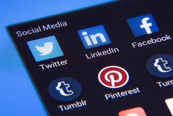 A mobile screen displaying social media apps